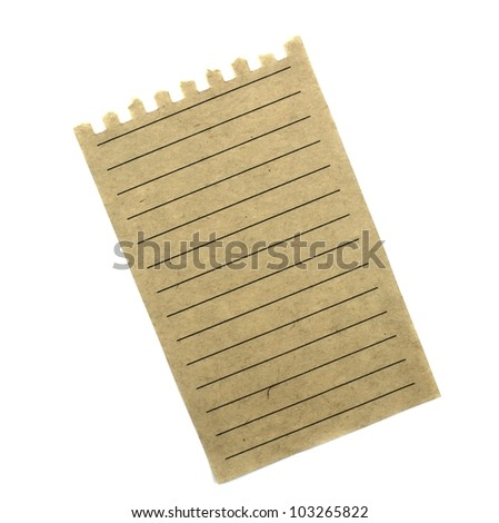 Old vintage note paper - stock photo