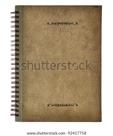 Old vintage notebook cover - stock photo