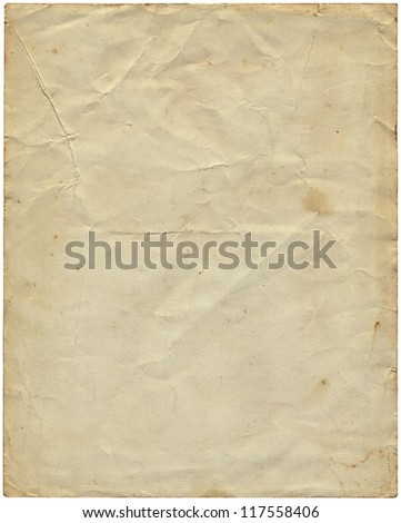 Old vintage paper from 1977. - stock photo