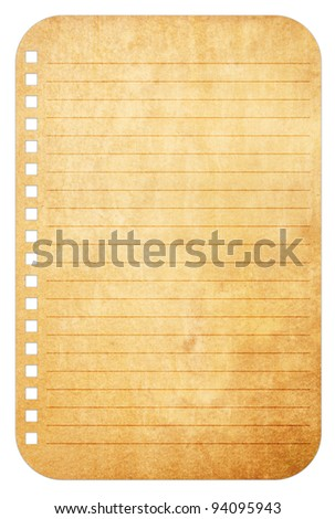 Old vintage paper notes background - stock photo