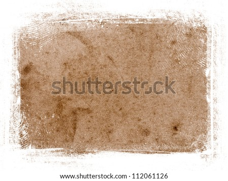 Old vintage paper texture with grungy border - stock photo