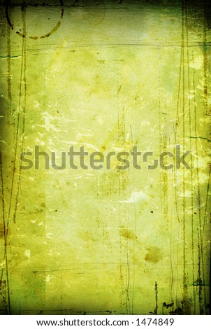 old, vintage paper with green tint - stock photo