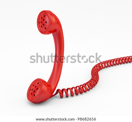 Old vintage phone handset - stock photo