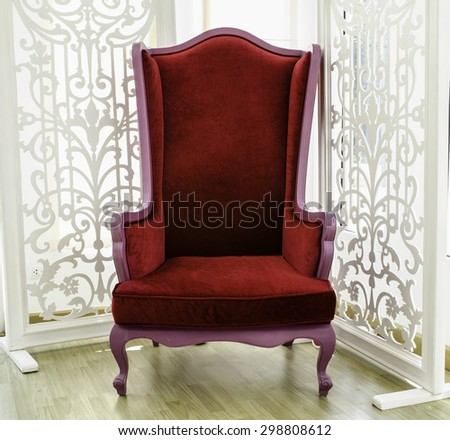old vintage red chair stock photo 100 legal protection 298808612