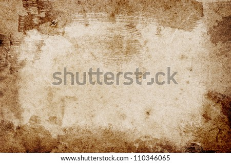 Old vintage retro grungy stained paper background