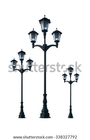 Old vintage street lamp post lamppost foto de stock libre de old vintage street lamp post lamppost light pole isolated on white background aloadofball Image collections