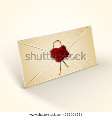Old vintage style envelope - stock photo