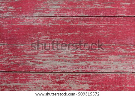 Old vintage textured red wood plank background