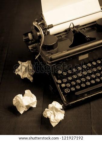 Old vintage typewriter - stock photo