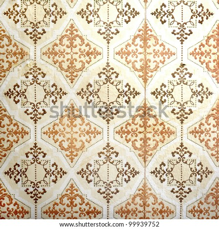Old vintage wallpaper - stock photo