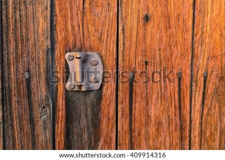 old vintage wood barn door texture background - stock photo