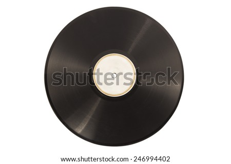 Old vinyl lp record isolated - stock photo