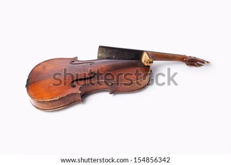 Old violin  - stock photo