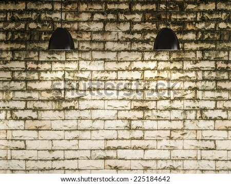 old wall and lamp interior design, 3d rendering