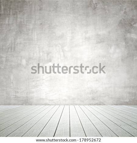 old wall and wooden  floor, close up