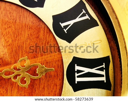 Old Wall Clock - passing time - stock photo