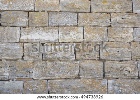 Old wall cracked concrete vintage texture; outdoor background