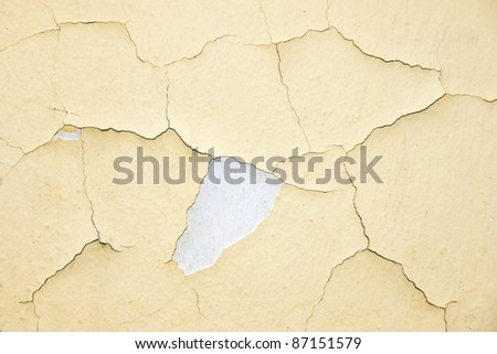 old wall in a street - stock photo