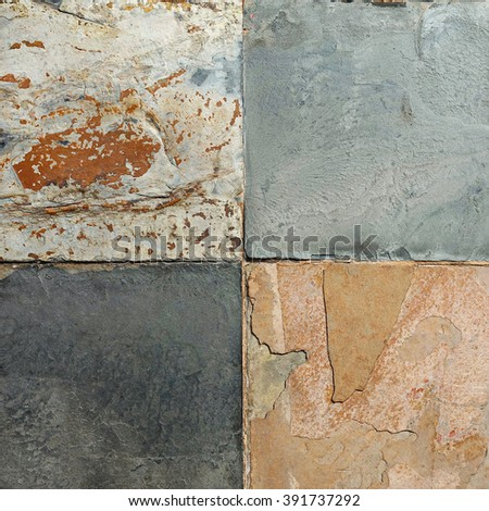 Old wall stone Cladding tiles patterns handcraft tiles patterns house design building designed church wall  from thailand public handcraft from thailand public. - stock photo