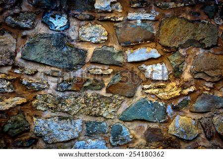 old wall stonework abstract background - stock photo
