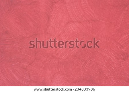 Old wall with red paint texture - stock photo