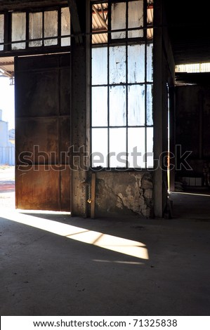 old warehouse - stock photo