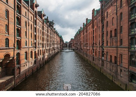 Old Warehouse District, Brooksfleet in Hamburg, Germany