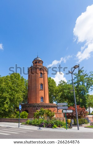 Old water tower in Toulouse France - stock photo