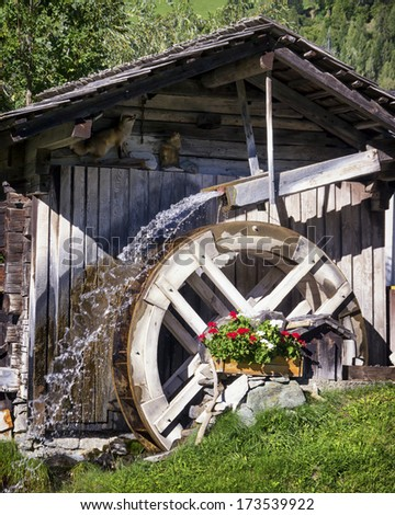 old watermill at a farm