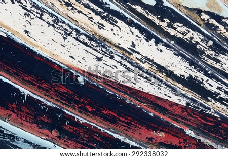 Old weathered boat hull close up. - stock photo