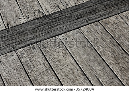 old weathered pier - stock photo