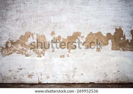Old weathered wall and a ground - stock photo