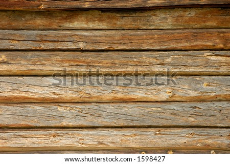 Old weathered wooden boards wall background texture - stock photo