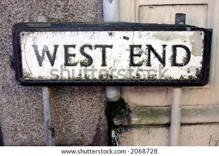 Old West End street sign