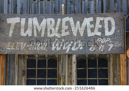 Old Western facade - stock photo