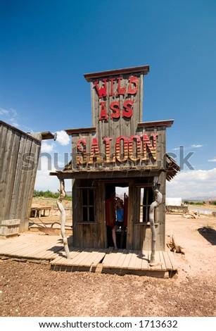 Old western style saloon - stock photo