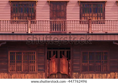 Old western swinging Saloon doors - stock photo