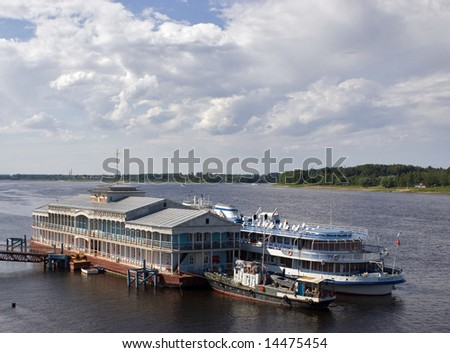 old wharf - stock photo