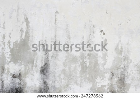 Old white dirty wall texture background - stock photo