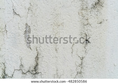 Old white grunge concrete wall background texture