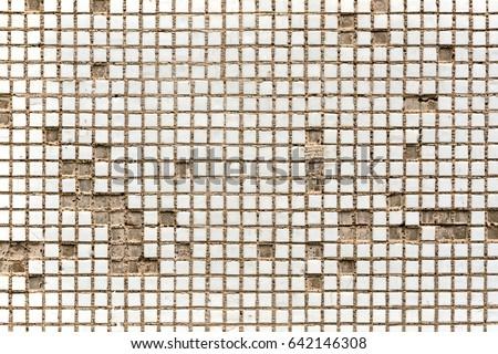 Old White Mosaic Tiles