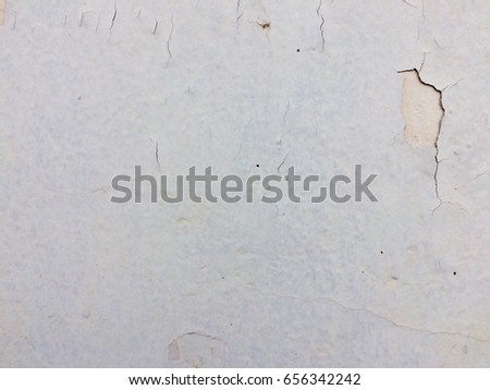 Old white paint concrete wall texture background