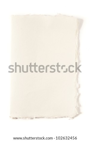 old white paper - stock photo