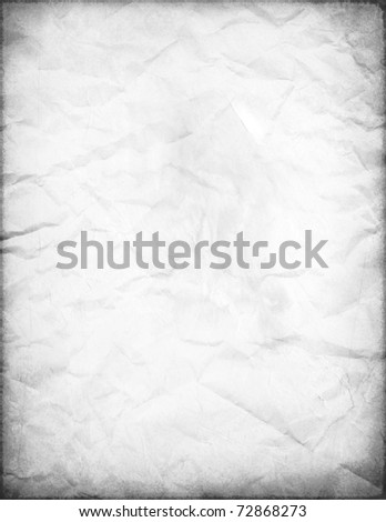 Old White Paper (Retro Effect on Pictures) - stock photo