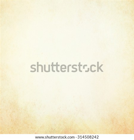 old white paper with vintage brown border, off white yellowed background texture with damaged distressed grunge design on bottom border with pale beige center with copyspace for text or image - stock photo