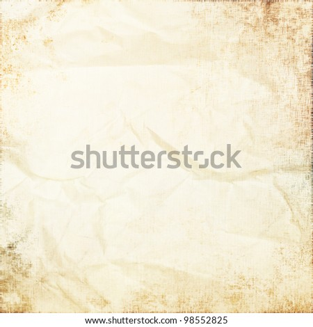 old white parchment as grunge background