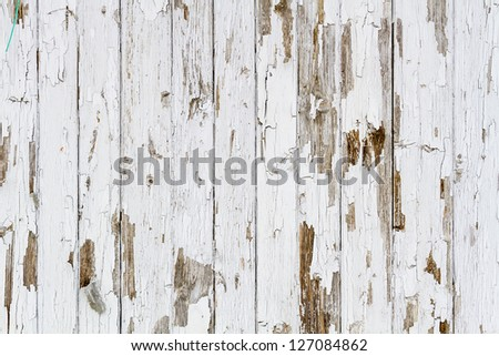 Old white weathered wooden background no. 2 - stock photo