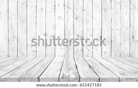 white wood floor background. Old White Wooden Floor And Wall Wood Texture Background A