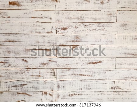 Old white wooden wall - stock photo