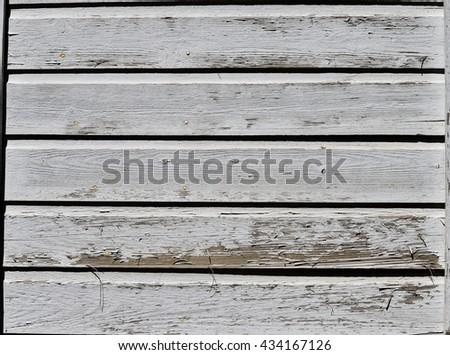 Old White wooden wall background - stock photo